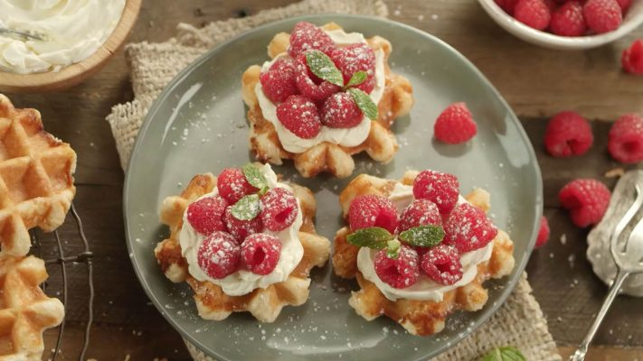 Philly Recipes - Raspberries Waffles